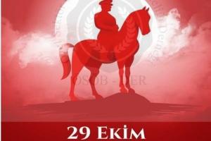 29 Ekim Cumhuriyet Bayramımızı kutluyoruz.